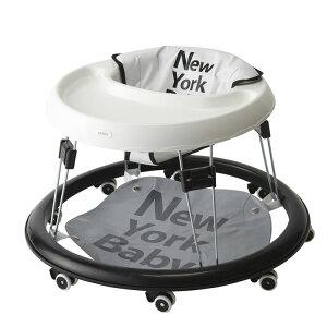 ≪ポイント5倍≫カトージ ベビーウォーカー NewYork・Baby ホワイト 28800送料無料 ベビー用品 赤ちゃん 歩行器 ベビー用セーフティグッズ かわいい おしゃれ シンプル 軽量 コンパクト収納 持ち