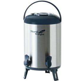《ポイント5倍》ステンレスジャグ11.8Lダブルコック ネイビー NE662飲料タンク 保冷 保温 水入れ 11.8L ノースイーグル アウトドア 2口 キャンプ ノースイーグル 【D】