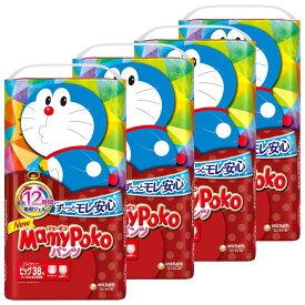[4個セット]マミーポコパンツ ビッグ ドラえもん 38枚紙おむつ ベビー かわいい パンツ式 MamyPoko 赤ちゃん ビックサイズ 夜 お出かけ 【D】