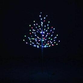 レインボーツリー120CM ホワイト 16431送料無料 クリスマスツリー ブランチツリー ツリー イルミネーション LED LEDライト クリスマス Xmas 北欧 不二貿易 【D】