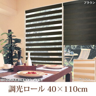Light roll 40 × 110 cm L2030 beige L2031 Brown blind Sebring blind roll dividers bamboo blinds UV Sun curtain sunshade between partition blindfold UV measures Ministry of energy-saving heating and cooling heat slick