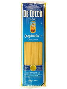 パスタ スパゲッティ 500g ディチェコ No.11 スパゲッティーニ送料無料 DE CECCO 1.6mm 業務用 まとめ買い ご飯 大容量 家族 新生活 輸入食品 イタリアン 麺類 惣菜 乾麺 ロングパスタ