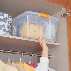 高い所ボックス TB-64 クリア アイリスオーヤマ (収納BOX/収納ボックス/収納用品/収納ケース プラスチック/衣装衣類ケース/押入れ収納/ソックス帽子洋服ファッションの収納や衣替えに最適♪)[cpir]
