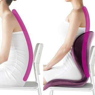StyleELEGANTBS-SE2238F-V送料無料座椅子クッション骨盤cushionS字カーブ姿勢MTGバイオレットディープブラウン【D】【B】