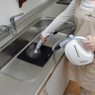 ハンディ小型ミニ家庭用掃除そうじスチーマー除菌高温セットコンパクトスチームクリーナーホワイトSTP-101E11点セットアイリスオーヤマ