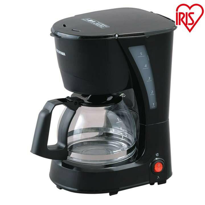 コーヒーメーカー ブラック CMK-652-B キッチン用品 調理器具 電動 コーヒー 珈琲 ドリップ coffee 作りたて 朝食 一息 おいしい 出来立て 楽しむ アイリスオーヤマ アイリス 珈琲メーカー 黒 シンプル コンパクト おしゃれ 調理 新生活 送料無料