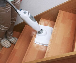 アイリスオーヤマスティックスチームクリーナーSTP-201ホワイトピンク掃除キッチンフローリング送料無料スチームクリーナー7点セットアイリスオーヤマアイリスパネル式あす楽
