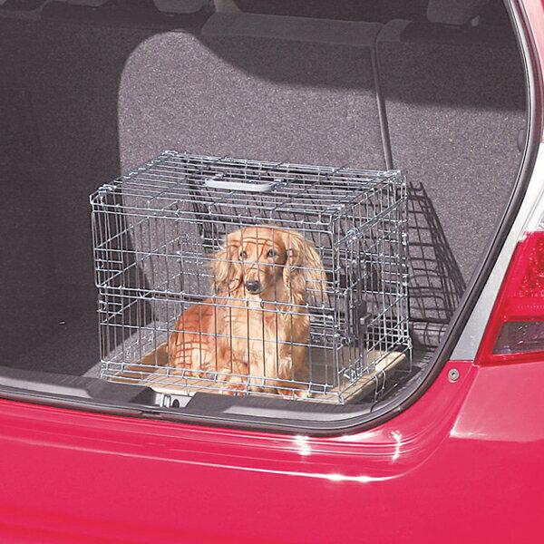 【ペット用】折りたたみケージ OKE-450 シルバー/ブラウン【アイリスオーヤマ】(サークル ケージ/ゲージ ケージ/犬 ケージ/ペット用品/ご家庭/ご家族の愛犬に/犬の移動檻)【買】【●2】