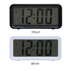 置時計 ブロック 99065・99066置き時計 デジタル コンパクト おしゃれ オシャレ 見やすい 分かりやすい シンプル 四角 四角形 長方形 スクエア クロック 不二貿易 ブラック ホワイト【D】