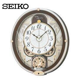 電波からくり時計 RE577B送料無料 SEIKO 掛け時計 壁掛け からくり時計 電波時計 アナログ スイープ メロディ 音量調節 セイコークロック 【TC】■2