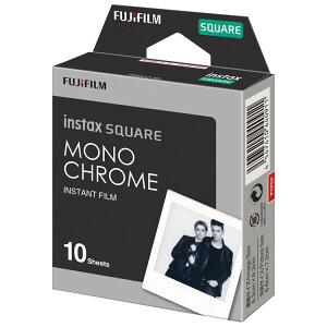 [最大P12倍★30日エントリーで]スクエアフォーマットフィルム instax SQUARE モノクローム 10枚入り 富士フィルム FUJIFILM チェキ フィルム チェキスクエア用 INS SQ WW1 MONOCHROME 白黒 【D】