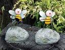 【全商品ポイントキャンペーン中】【02P01Oct16】S686  アイアンミツバチ  4個セット/オーナメント/置物/てんとう虫/動物/ガーデン…