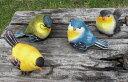 【ポイントキャンペーン中】S631  森の小鳥 置物 SS 4Pセット 小鳥/オーナメント/置物/ガーデニング/オブジェ