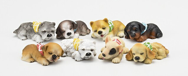 【NEW】【02P01Oct16】【全商品ポイントキャンペーン中】S9671  スリーピングドック S 8種セット 犬/ドック/オーナメント/置物/ガーデン雑貨/ガーデニング雑貨/母の日/父の日