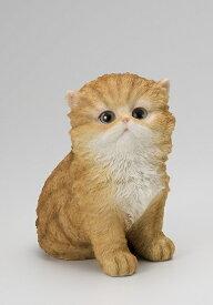 【NEW】【ポイントキャンペーン中】 S6115  子猫置物ペルシャ猫 レッド /オーナメント/置物/ねこ/ねこ雑貨/ねこ置物ねこグッズ