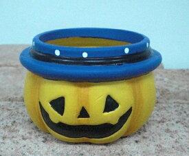 【全商品ポイントキャンペーン】S6391 パンプキンポット  4個セット 置物/オーナメント/ハロウィン/かぼちゃ/オブジェ/ガーデン雑貨/ハロウィン かぼちゃ