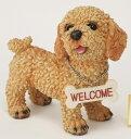【全商品ポイントキャンペーン中】【RCP】S2606 ラブリーウェルカムドック トイプードル 犬/ドック/置物/オーナメント/オブジェ/ガー…