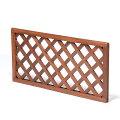 [送料無料]木製高級トロピカルフェンス:S菱格子5枚セット(格子板3cmラウンド)