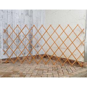 木製伸縮トレリス:100×200cm カントリーウッド