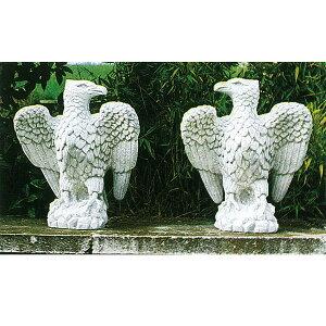 イタリア製石像:海辺の鷲(右)[02P07Feb16]