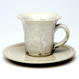 大堀相馬焼(おおぼりそうまやき) 京月窯 紫彩 マグカップ&ソーサー(大) 90×80mm 陶器 焼き物 ギフト・プレゼントに