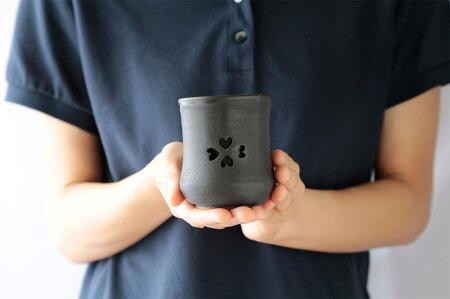 大堀相馬焼松永窯SAKURAマグ(さくらまぐ)夫婦揃えペアセット二重湯呑み110cc陶磁器