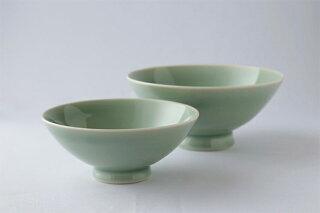 大堀相馬焼茶碗青磁夫婦揃和食器
