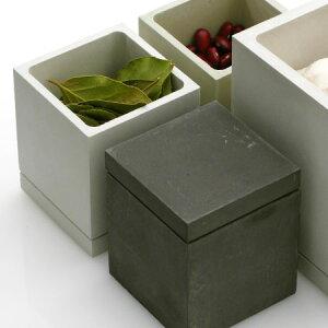 珪藻土 フードコンテナ S soil ソイル 【正規品】 スクエア 保存容器調味料入れ コーヒー キャニスター 塩 砂糖 入れ 固まらない 日本製 国産 おしゃれ プレゼント ギフト