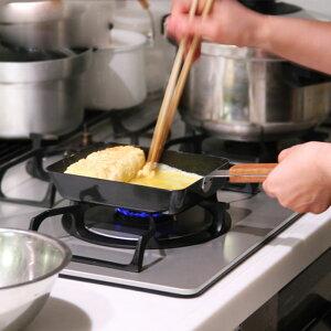 ambai玉子焼角(アンバイ/卵焼き器/フライパン/コンパクト/鉄/ファイバーライン/こびり付きにくい/焦げ付きにくい)