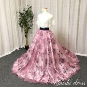 花柄のオーバースカート