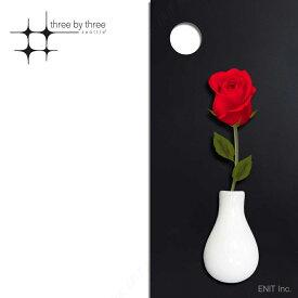 マグネット おしゃれな 花瓶の形の 磁石 セラミック フラワー ベース 7cm×4cm スリーバイスリー