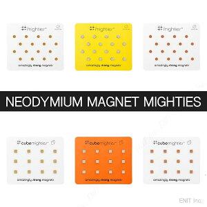 ネオジム 磁石 マイティズ ラージパック おしゃれな 強力 マグネット スリーバイスリー シルバー ゴールド コッパー(銅)