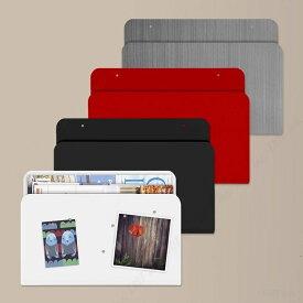 壁掛けラック マガジンラック マガジン ポケット おしゃれな 壁面 収納 強力 ネオジム 磁石 付き スリーバイスリー 30.5cm×21cm×2.5cm