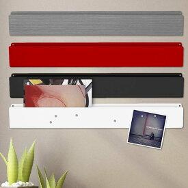 壁掛けラック マグネットボード ポケット ストリップ おしゃれな 壁面 収納 強力 ネオジム 磁石 付きスリーバイスリー 7cm×56cm