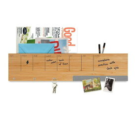 壁掛けラック ウォール キャディ おしゃれな 壁面 収納 棚 木製 予定表 メモ フック マグネットボード 付き スリーバイスリー