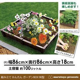 組み立て かんたん ガーデンBOX 90型 【畑】【花壇】【菜園】【プランター】【ブロック】【家庭菜園】