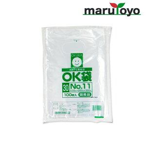 OKURA 透明PE規格袋 OK袋 0.03mm No.11 100枚入【野菜】【野菜袋】【出荷】【漬物】【食品】