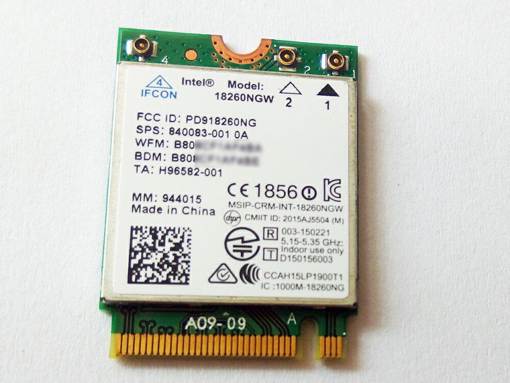 Intel Tri-Band Wireless-AC 18260 18260NGW M.2 802.11ABGN +AD+AC 867 Mbps+ Bluetooth 4.2/インテル 2.4G 5.0G デュアルバンド 無線LANカード