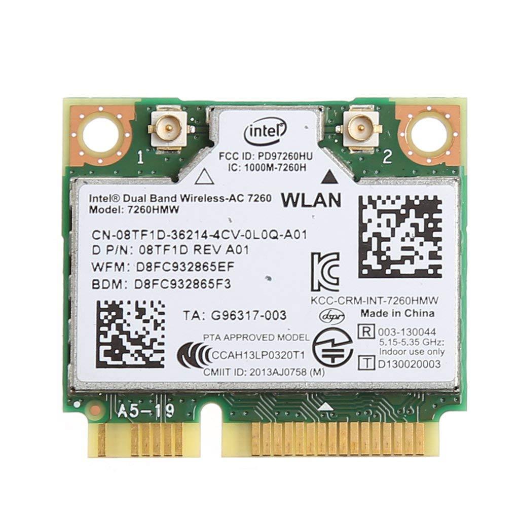 Intel Dual Band Wireless-AC 7260 802.11ac対応 最大リング867Mbps 2.4/5GHZ+ Bluetooth 4.0内蔵無線Lanカード