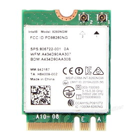 AC-8260 Intel Dual Band Wireless-AC 8260 8260NGW M.2 802.11AC 867 Mbps+ Bluetooth 4.0/インテル デュアルバンド 無線LANカード【ネコポス便・ゆうパケット発送でお届け】