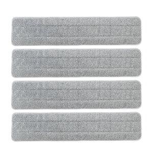Eyliden 取替えクロス 4枚セット グレー クロス モップ マイクロファイバー ぞうきん フローリング ホールモップ フロア スペア 取替 掃除 パッド 雑巾 モップ 床を保護 水拭き クリーナー 交換