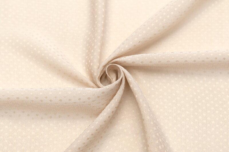 スイス製【Gres/グレ】レーヨン・シルクバックサテンドット・ジャカードシングル幅10cm単位 生地・布