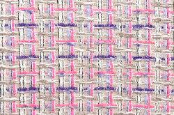 イギリス製【LINTON/リントン】シャネルツィードヴィスコース・コットン・シルクファンシーツィード50cm単位生地・布