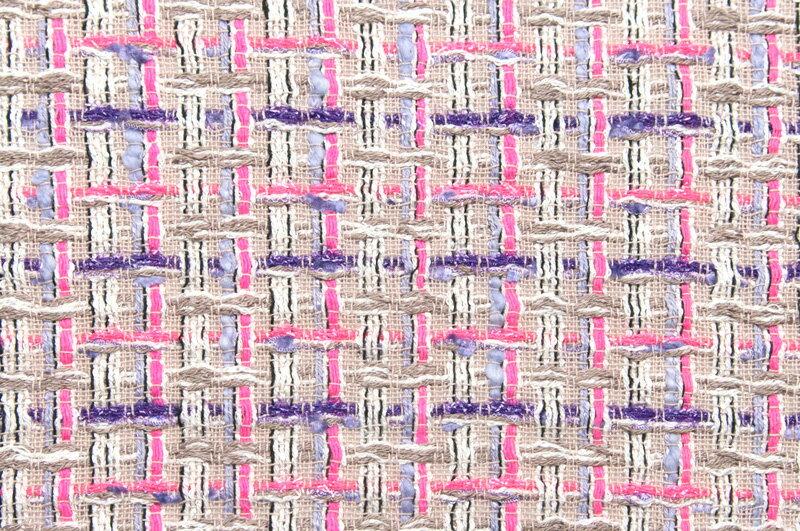イギリス製【LINTON/リントン】シャネルツィードヴィスコース・コットン・シルクファンシーツィード50cm単位 生地・布
