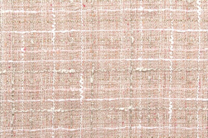 イギリス製【LINTON/リントン】シャネルツィードウール・コットン・ブレンドファンシーツィード50cm単位 生地・布