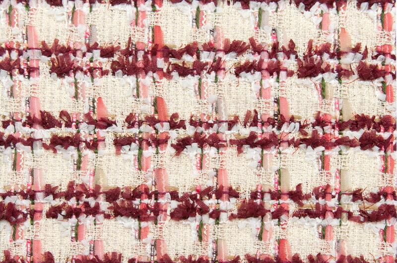 イギリス製【LINTON/リントン】シャネルツィードコットン・ウール・ブレンドファンシーツィード50cm単位 生地・布