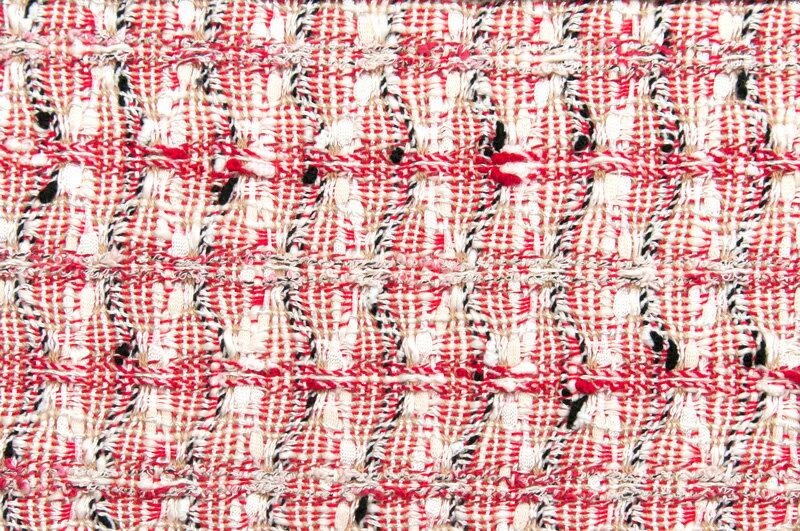 イギリス製【LINTON/リントン】シャネルツィードコットン・ブレンドファンシーツィード50cm単位 生地・布