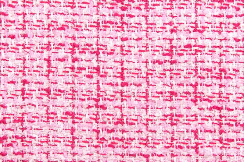 イギリス製【LINTON/リントン】シャネルツィードコットン・ポリアミドファンシーツィード10cm単位 生地・布