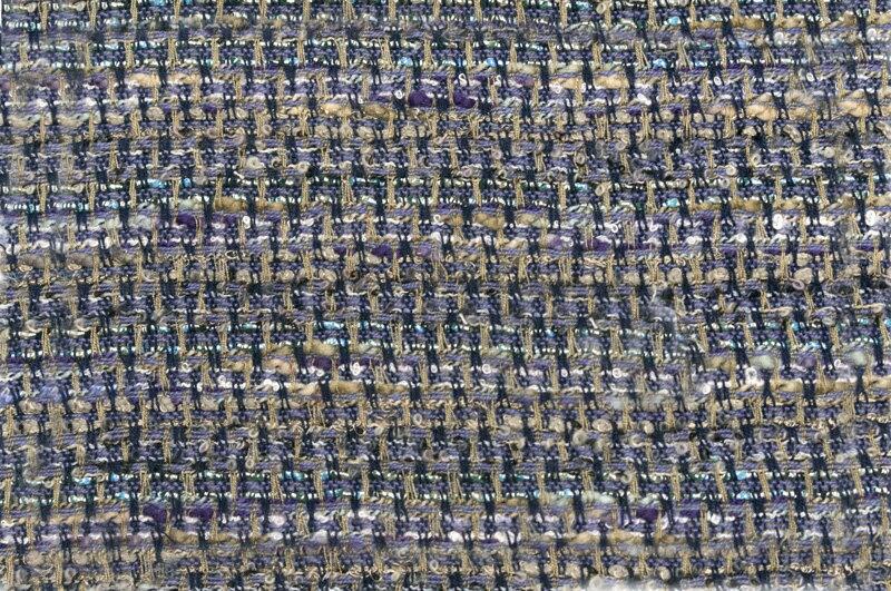 イギリス製【LINTON/リントン】シャネルツィードウール・シルク・ブレンドファンシーツィード10cm単位 生地・布