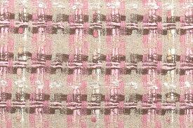 イギリス製 ツイード 生地【LINTON/リントン】シャネルツイードコットン・ブレンドファンシーツイード10cm単位